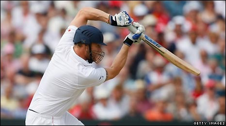 Andrew Flintoff batting for England