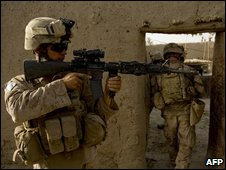 US soldier operating under Nato in Afghanistan