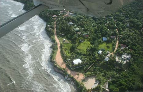 Aerial view of the Mosquito Coast