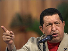 Venezuelan President Hugo Chavez on 5 August 2009