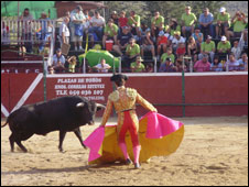Bullfight in Manzanares el Real