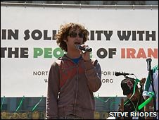 Austin Heap at the Iran Rally in San Francisco July 2009 (Courtesy Steve Rhodes)