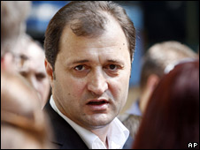 LDP leader Vlad Filat, pictured on 29 July 2009