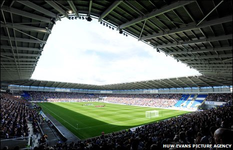 The Cardiff City stadium at its opening Championship game