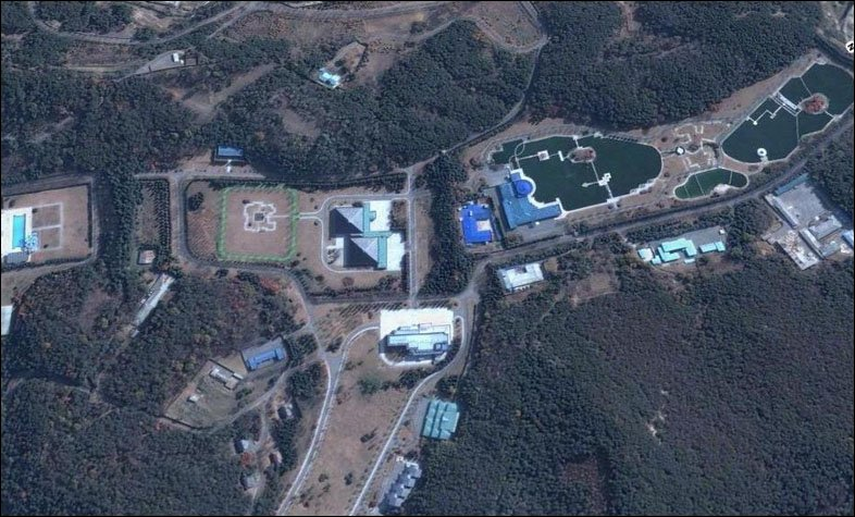 Elite housing compound believed to be used by North Korean leader Kim Jong-il