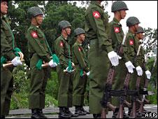 Burmese troops (file image)