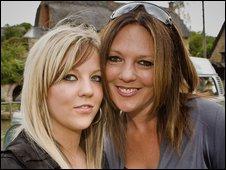 Natasha (l) and Teresa Sturt