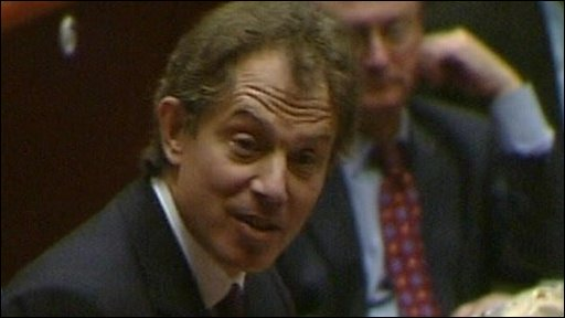 Tony Blair addresses MEPs in Strasbourg