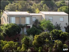 The house where four bodies were found in Albitreccia, Corsica, 13 August, 2009
