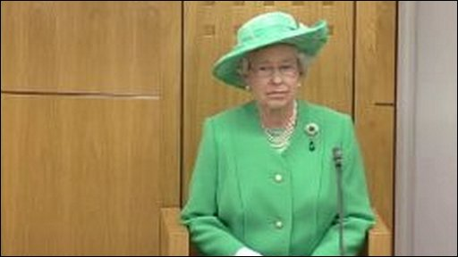 The Queen opening the second Assembly