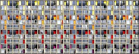 Urban Splash artist's impression of the new glazing at Park Hill (2009)