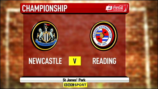 Newcastle v Reading