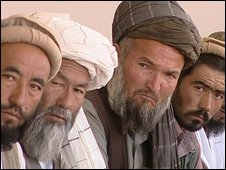 Local leaders attending a jirga on security