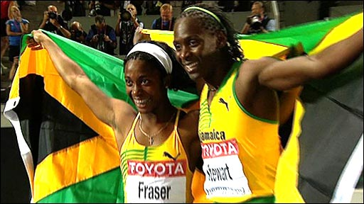 Shelly-Ann Fraser and Kerron Stewart