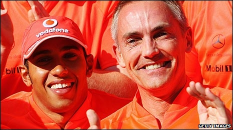 Lewis Hamilton and Martin Whitmarsh