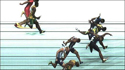 Photo-finish in 110m hurdles