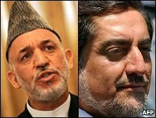 Hamid Karzai (l) and Abdullah Abdullah (r)