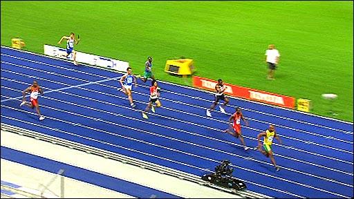 Mens 4 x 100m relay final