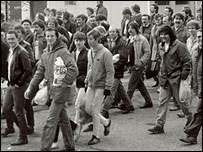 Maltby miners' return to work march in 1985