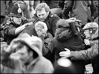 Scuffle at Orgreave © Steve Eason