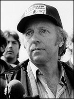 Arthur Scargill at Orgreave, June 1984