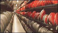 Film cans in BBC Archive