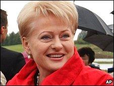 Lithuanian President Dalia Grybauskaite (file)