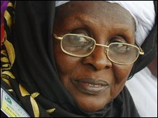 Hadja Safiatou Dembele, president of the National Union of Muslim Women's Organisation