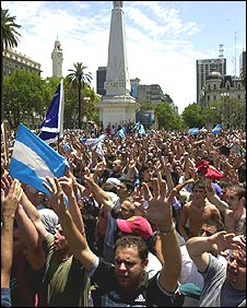 Anti-government protest in 2001 in Buenos Aires