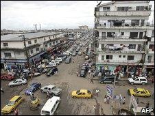 A view of Monrovia