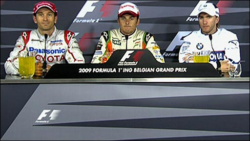 Belgian GP news conference