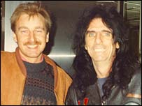 Colin Rae and Alice Cooper