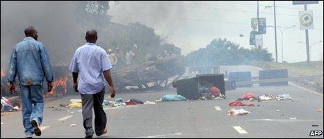 Libreville after the violence, 03/09