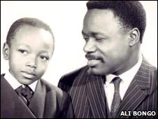 Omar Bongo right and his son Ali