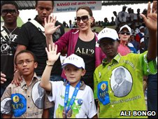 Ali Bongo's wife Sylvia and some of their children