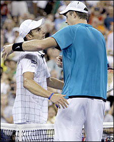 Andy Roddick and John Isner