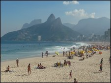 Image shows Ipanema Beach
