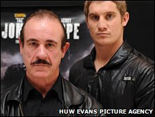 Enzo Calzaghe and Kerry Hope