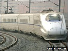 A new train on the Beijing-Tianjin line, file image