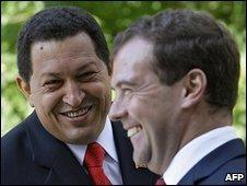 Venezuelan President Hugo Chavez and Russian President Dmitry Medvedev