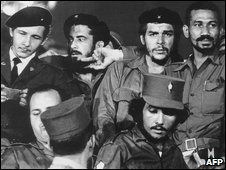 A 1959 photograph showing Commanders Raul Castro (L to R), Antonio Nunez Jimenez, Ernesto 'Che' Guevara and Juan Almeida as they took power in 1959