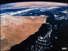 A Satellite picture of The Horn of Africa