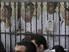 Accused at the court in Cairo 17.9.09
