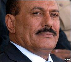Yemeni President  Ali Abdullah Saleh in Sanaa (file image)