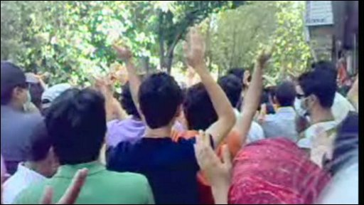 Protestors is Esfahan