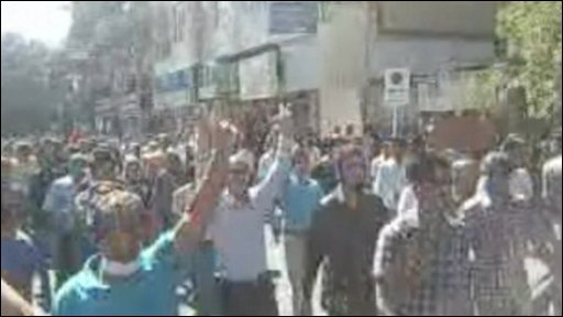 Protestors in Shiraz
