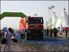 Truck in Silk Road Rally, Turkmenistan