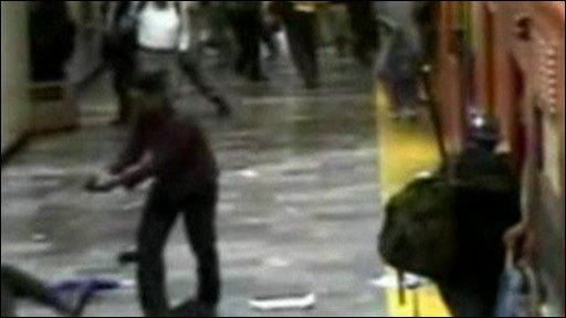 Gunman on platform