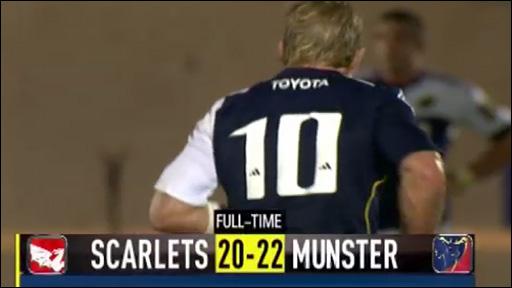 Highlights: Scarlets 20-22 Munster
