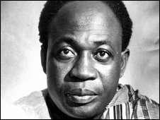 Kwame Nkrumah pictured in 1957
